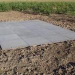 Schellevis 1x1m betonplaat als terras
