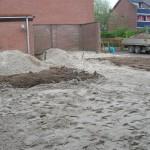 Leveren van zand en zwarte grond