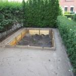 Grondwerk voorbereiding voor kunstgras en trampoline