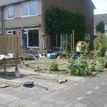 Tuinschermen plaatsen in uitvoering