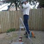 Laswerkzaamheden bij tuinschermen